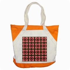 Floral Retro Abstract Flowers Accent Tote Bag