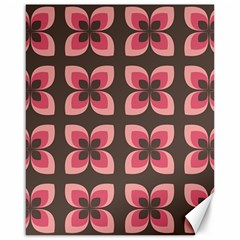 Floral Retro Abstract Flowers Canvas 16  X 20