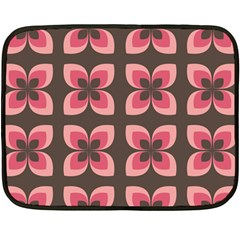 Floral Retro Abstract Flowers Double Sided Fleece Blanket (mini)