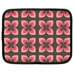 Floral Retro Abstract Flowers Netbook Case (xxl)