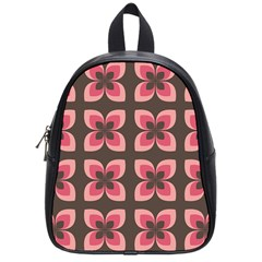 Floral Retro Abstract Flowers School Bag (small)