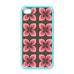 Floral Retro Abstract Flowers Apple Iphone 4 Case (color)