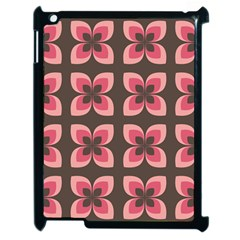 Floral Retro Abstract Flowers Apple Ipad 2 Case (black)