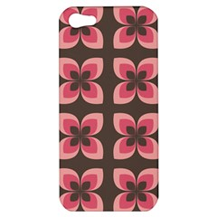 Floral Retro Abstract Flowers Apple Iphone 5 Hardshell Case