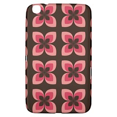 Floral Retro Abstract Flowers Samsung Galaxy Tab 3 (8 ) T3100 Hardshell Case