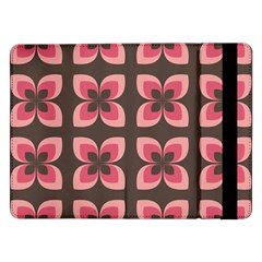 Floral Retro Abstract Flowers Samsung Galaxy Tab Pro 12 2  Flip Case