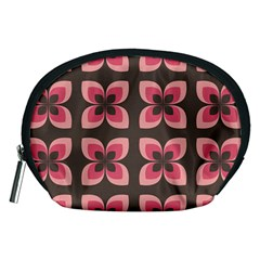 Floral Retro Abstract Flowers Accessory Pouches (medium)