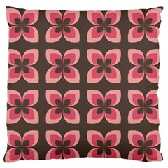 Floral Retro Abstract Flowers Large Flano Cushion Case (one Side)