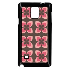 Floral Retro Abstract Flowers Samsung Galaxy Note 4 Case (black)
