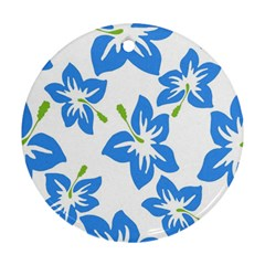 Hibiscus Wallpaper Flowers Floral Ornament (round)