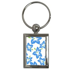 Hibiscus Wallpaper Flowers Floral Key Chains (rectangle)
