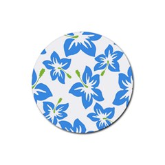 Hibiscus Wallpaper Flowers Floral Rubber Coaster (round)