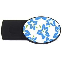 Hibiscus Wallpaper Flowers Floral Usb Flash Drive Oval (2 Gb)