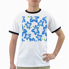 Hibiscus Wallpaper Flowers Floral Ringer T Shirts