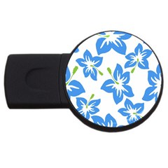 Hibiscus Wallpaper Flowers Floral Usb Flash Drive Round (4 Gb)