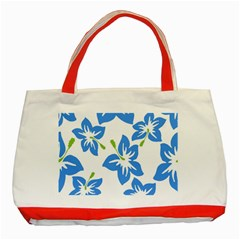 Hibiscus Wallpaper Flowers Floral Classic Tote Bag (red)