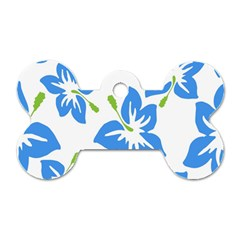 Hibiscus Wallpaper Flowers Floral Dog Tag Bone (two Sides)