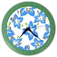 Hibiscus Wallpaper Flowers Floral Color Wall Clocks