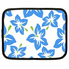 Hibiscus Wallpaper Flowers Floral Netbook Case (large)