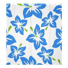 Hibiscus Wallpaper Flowers Floral Shower Curtain 66  X 72  (large)
