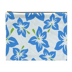 Hibiscus Wallpaper Flowers Floral Cosmetic Bag (xl)