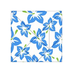 Hibiscus Wallpaper Flowers Floral Acrylic Tangram Puzzle (4  X 4 )
