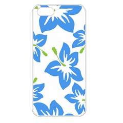 Hibiscus Wallpaper Flowers Floral Apple Iphone 5 Seamless Case (white)