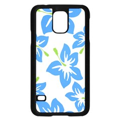 Hibiscus Wallpaper Flowers Floral Samsung Galaxy S5 Case (black)