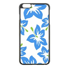 Hibiscus Wallpaper Flowers Floral Apple Iphone 6 Plus/6s Plus Black Enamel Case