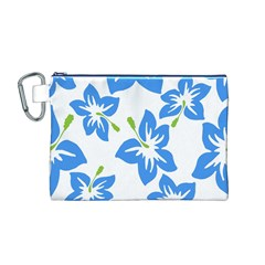 Hibiscus Wallpaper Flowers Floral Canvas Cosmetic Bag (m)
