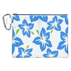 Hibiscus Wallpaper Flowers Floral Canvas Cosmetic Bag (xxl)