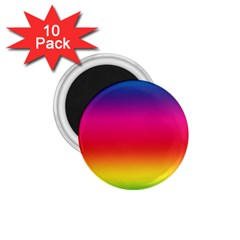 Spectrum Background Rainbow Color 1 75  Magnets (10 Pack)