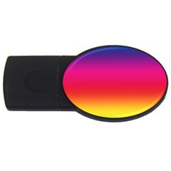 Spectrum Background Rainbow Color Usb Flash Drive Oval (2 Gb)