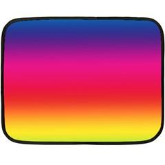 Spectrum Background Rainbow Color Fleece Blanket (mini)