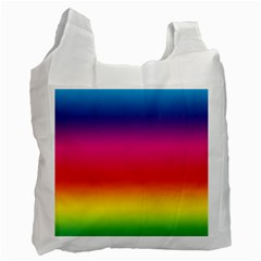 Spectrum Background Rainbow Color Recycle Bag (one Side)