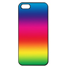 Spectrum Background Rainbow Color Apple Iphone 5 Seamless Case (black)