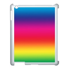 Spectrum Background Rainbow Color Apple Ipad 3/4 Case (white)