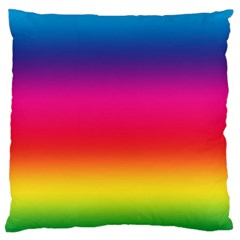 Spectrum Background Rainbow Color Large Flano Cushion Case (two Sides)