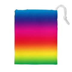 Spectrum Background Rainbow Color Drawstring Pouches (extra Large)