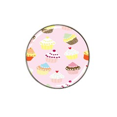 Cupcakes Wallpaper Paper Background Hat Clip Ball Marker (4 Pack)