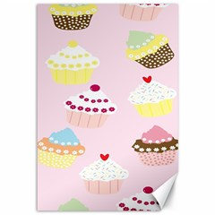 Cupcakes Wallpaper Paper Background Canvas 12  X 18