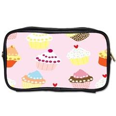 Cupcakes Wallpaper Paper Background Toiletries Bags 2 Side