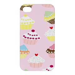 Cupcakes Wallpaper Paper Background Apple Iphone 4/4s Hardshell Case