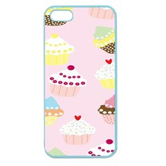 Cupcakes Wallpaper Paper Background Apple Seamless Iphone 5 Case (color)