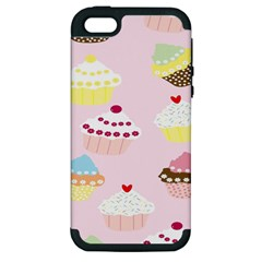 Cupcakes Wallpaper Paper Background Apple Iphone 5 Hardshell Case (pc+silicone)