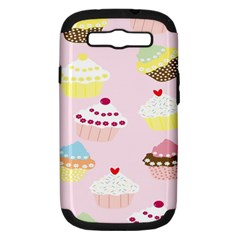 Cupcakes Wallpaper Paper Background Samsung Galaxy S Iii Hardshell Case (pc+silicone)