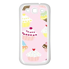 Cupcakes Wallpaper Paper Background Samsung Galaxy S3 Back Case (white)