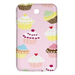 Cupcakes Wallpaper Paper Background Samsung Galaxy Tab 3 (7 ) P3200 Hardshell Case