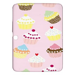 Cupcakes Wallpaper Paper Background Samsung Galaxy Tab 3 (10 1 ) P5200 Hardshell Case