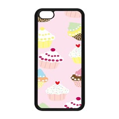 Cupcakes Wallpaper Paper Background Apple Iphone 5c Seamless Case (black)
